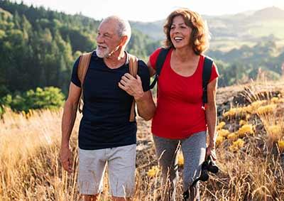 healthy couple enjoying life